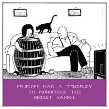 Le Biscuit Barrel drôle FRED carte d'anniversaire Rupert Fawcett humour cartes de voeux