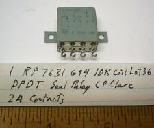 1 Sealed Relay 10K Coil DPDT 2A Contacts, CP CLARE #RP7631G94 Lot 36 Made in USA