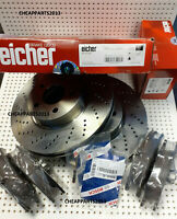 EICHER BRAKE DISCS PADS SENSOR FOR MERCEDES E CLASS E250 CDI 09-16 FRONT 322mm