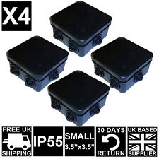 4X Black Weatherproof Plastic CCTV Camera Cable IP Junction Box Small IP 55 UK
