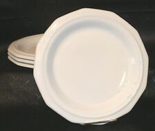 PFALTZGRAFF WHITE HERITAGE 4 DINNER PLATES  Made in USA