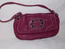 GUESS Purse Sexy Woman's Satchel Purse Handbag Fuschia Leather Guess Logo Pink