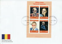 Chad 2019 FDC Elton John 4v M/S Cover Music Celebrities Famous People Stamps