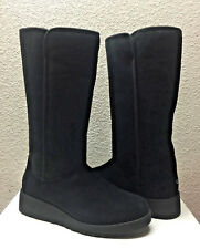UGG KARA CLASSIC TALL SLIM BLACK SUEDE WEDGE BOOT US 8 / EU 39 / UK 6.5 NIB