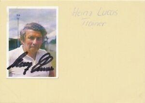 Fußball: Heinz Lucas 112.962