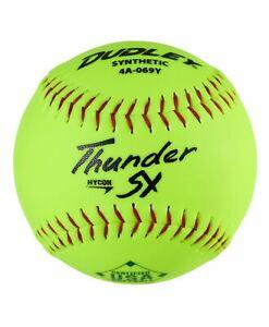 "Dudley Thunder SY HYCON 12"" USA/ASA Synthetic Slowpitch Softballs (DOZEN): 4A069"