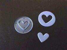 Sizzix Die Cutter  HEART IN CIRCLE Thinlits fits Big Shot Cuttlebug