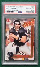Brett Favre rookie card graded PSA 9 Mint - 1991 Action Packed Packers HOF RC