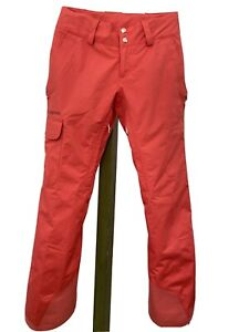 """PATAGONIA XS Womens Snow Ski Pants Insulated H2NO Coral """"Recco"""" NICE!!"""