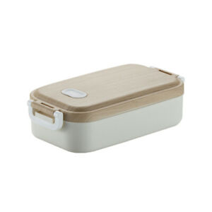 Portable Stainless Steel Insulated Lunch Box Double Layers Leakproof Bento Box