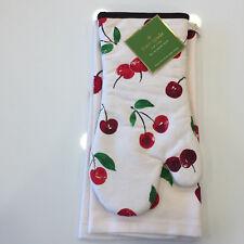 kate spade new york Cherry On Top 2-Piece Kitchen Linens Set ***NWT***