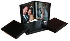 "Photo Album 2.5""x3.5"" holds 24 Elegant Black Leatherette Cover"