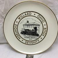 Vintage Willard Ohio Centennial Plate Chicago Junction 1974 1874