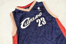 Lebron James Cleveland Cavaliers Jersey Navy 23 Reebok Youth Large