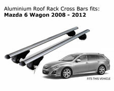 Aluminium Roof Rack Cross Bars fits Mazda 6 Wagon 2008-2012