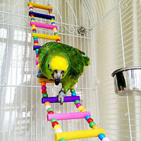 EG_ Bird Swing Wooden Bridge Ladder Climb Cockatiel Budgie Parrot Pet Toys Novel
