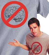 NO BRAIN T-Shirt Idiocracy movie luke wilson tshirt brawndo funny smart - 445