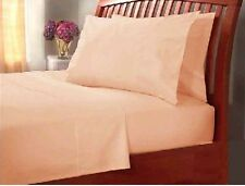 LUXURY 50/50 PLAIN DYED FITTED BED SHEETS, PILLOW CASES, SINGLE, DOUBLE, S/KING