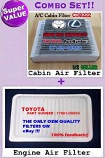Combo Set ENGINE & CARBONIZED CABIN AIR FILTER TOYOTA Highlander 2001-2007