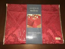 MARQUIS BY WATERFORD 13pc TABLE LINEN ENSEMBLE~TABLECLOTH~PLACEMATS~NAPKINS~NEW