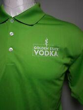 Nike Golf Dri-Fit Large L Lime Green Golden State Vodka Men's Polo Shirt - Rare!