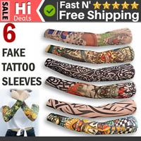 Seamless Fake Temporary Tattoo Sleeve Full Arm Sunscreen Tattoo Slip On Sleeves