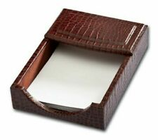 Dacasso Brown Crocodile Embossed Leather 4 6 Inch Memo Holder