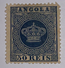 Travelstamps: 1881 Angola Stamps { Portugal } Scott # 15, Mint, Hinged, Mng