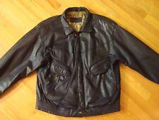 Leather Jacket Men's Black Trapper Leather Wear Euro 54 US 44