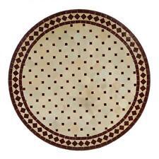 Mosaiktisch Balkontisch Terrassentisch Mosaikmuster Tisch Rund 90 cm Bordeaux