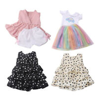 4x Summer Beautiful Dress for 16inch -18inch Girl Doll Clothes Costume Gifts