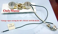 COMPATIBLE WITH FENDER TELECASTER BASS 60'S REPRO VINTAGE WIRING HARNESS