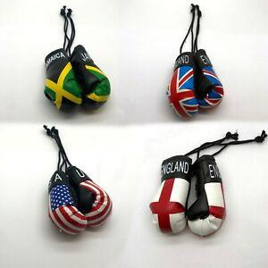Car Hanging Boxing Gloves Decoration Country Flag Pair Single Set Van UFC MMA UK