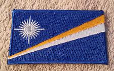 MARSHALL ISLANDS FLAG PATCH Embroidered Badge Iron Sew on Aolepān Aorōkin M̧ajeļ
