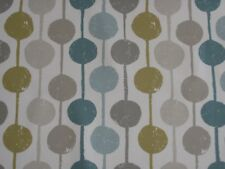 "HARLEQUIN SCION CURTAIN FABRIC DESIGN ""Taimi"" 2 METRES SEAGLASS/CHALK/HONEY"