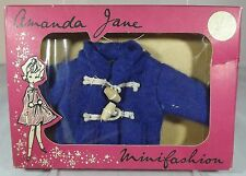VINTAGE 1960s BOXED AMANDA JANE JINX FELT DUFFLE COAT (602) MINIFASHION CLOTHES