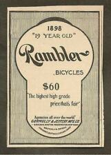 "699 VINTAGE REPRINT ADVERT AMERICAN RAMBLERS BICYCLES BOSTON CHICAGO 11/""x12/"""