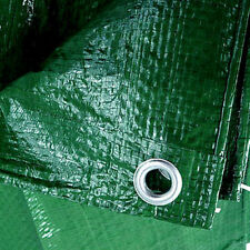 5M X 5M GREEN HEAVY DUTY WATERPROOF TARPAULIN GROUND SHEET CAMPING COVER 120 NEW
