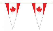 More details for canada 20m triangle flag bunting - large 54 flags - triangular banner