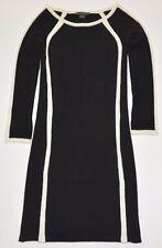 Armani Exchange  Women's Black & White  Long Sleeve Dress    Size M