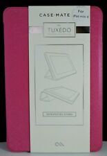 New! Case-Mate Tuxedo Refined Protection Folio Case for iPad Mini 4-Texured Pink