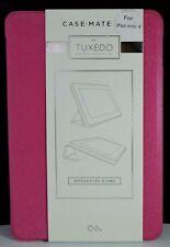 New! Case-Mate Tuxedo Refined Protection Folio Case for iPad Mini 4-Texured Pink