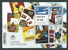 GREAT BRITAIN 2016 Royal Mail 500, belle usate GPO POSTER miniatura foglio codice a barre