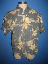 Tommy Bahama Rayon Cotton Blend Blue Floral Hawaiian Camp Shirt L Mint