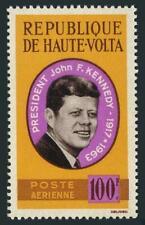 Burkina Faso C19,C19a sheet,MNH.Michel 155,Bl.2. President John F. Kennedy,1964