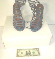 "Steve Madden SLITHUR Open Toe Light Blue Suede Heels Size 7 - ""Z"""