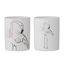 Bloomingville 2er Set Teelichthalter Windlicht Flamingo Votive Teelicht Terrasse