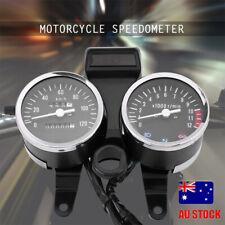 Universal Motorcycle LED Dual Backlight Odometer Tachometer Speedometer Gauge AU