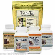 FAIRHAVEN HEALTH LITTLE BUNDLE FOR HER FERTILAID FERTILECM OVABOOST DETOX TEA