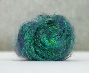 10g Angelina Fibre Peacock Green Heat Bondable Crafts Fusible Felting Dreads